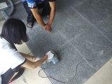 学员实践石材翻新开缝